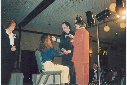 NGH Consulting Hypnotist Martin Kiely demonstrating hypnosis induction